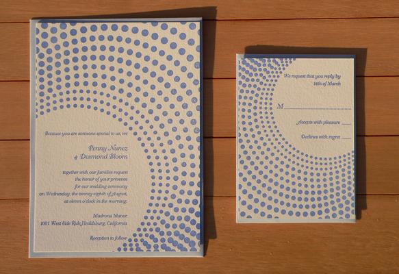 活版印刷 wedding invitation rsvp package ドット その他オーダー